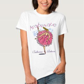 Arabesque Blues Ballerina customizable T Shirt