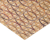 Arabesque damask - brown and camel tan tissue paper