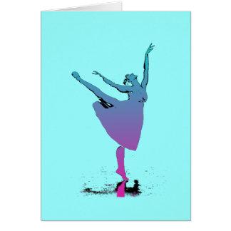 Arabesque Dancer Dances Greeting Card