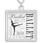 Arabesque del collar del ballet (blanco) -