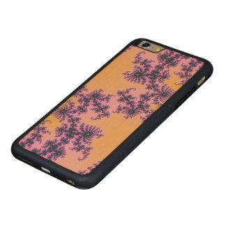 Arabesque del fractal - verde y púrpura en funda de arce bumper carved® para iPhone 6 plus