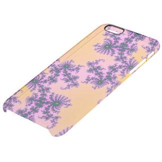 Arabesque del fractal - verde y púrpura en funda clearly™ deflector para iPhone 6 plus de unc