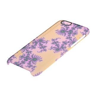 Arabesque del fractal - verde y púrpura en funda clearly™ deflector para iPhone 6 de uncommon