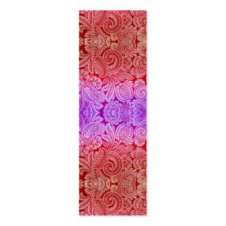 Arabesque del Victorian, HALYDON en rojo y púrpura Tarjetas De Visita Mini