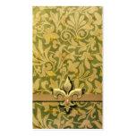 Arabesque del Victorian, NOBLESSE - oro y verde Tarjeta De Visita
