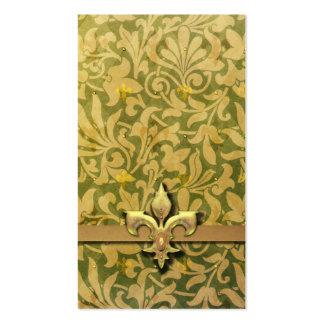 Arabesque del Victorian NOBLESSE - oro y verde Tarjeta De Visita