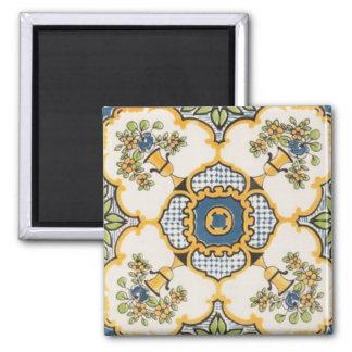 Arabesque Design 2 Inch Square Magnet