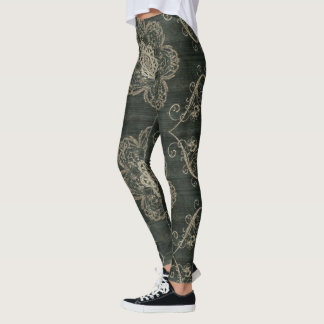 Arabesque Forest Green Leggings