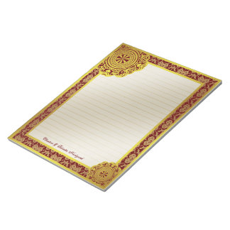 Arabesque Gold Lace, notepad