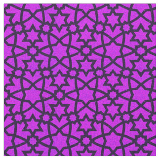 Arabesque grande purple and black fabric