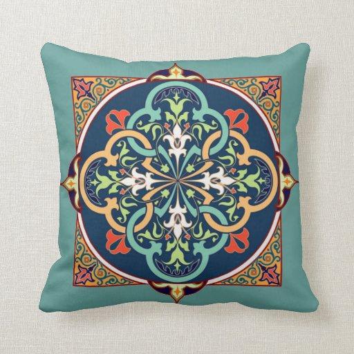 Arabesque Islam Persian Art Decorative Pillow Zazzle