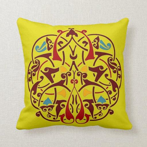 Persian Design Throw Pillows : Arabesque Islam Persian Art Decorative Pillow Zazzle