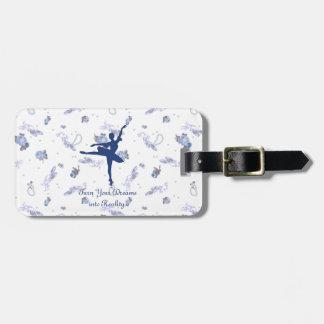arabesque luggage tag