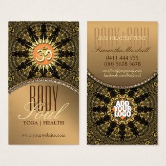 Arabesque Mandala Gold OM New Age Business Card