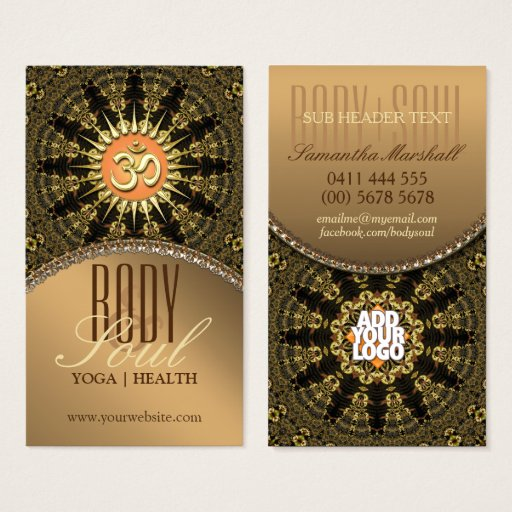 Arabesque Mandala Gold OM New Age Business Card
