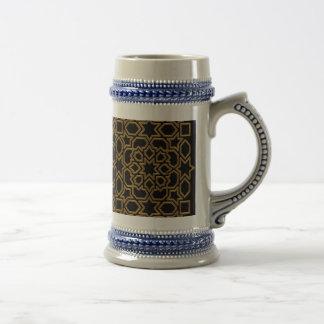 Arabesque Moroccan with elegant gold frame Beer Stein
