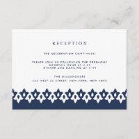 Arabesque Reception Card | Navy