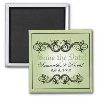 Arabesque Save the Date (celery) Magnet