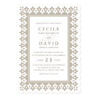Arabesque Wedding Invitation | Champagne Shimmer