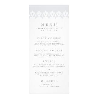 Arabesque Wedding Menu Card | Gray