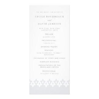 Arabesque Wedding Program | Gray