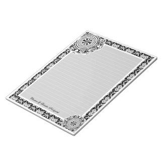 Arabesque White Lace, notepad