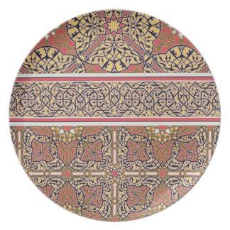 Arabesques del techo de la mezquita de EL-Bordeyny Platos De Comidas