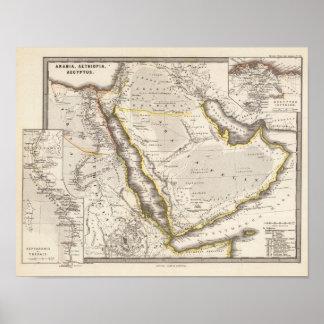 Arabia, Aethiopia, Aegyptus Poster