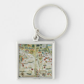 Arabia and India, from the 'Miller Atlas', c.1519 Keychain