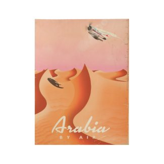 Arabia By Air travel poster