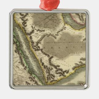 Arabia, Egipto, Abyssinia, Mar Rojo Adorno Navideño Cuadrado De Metal
