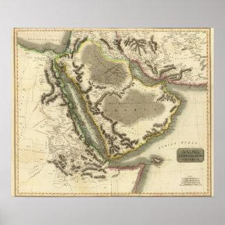 Arabia, Egipto, Abyssinia, Mar Rojo Póster