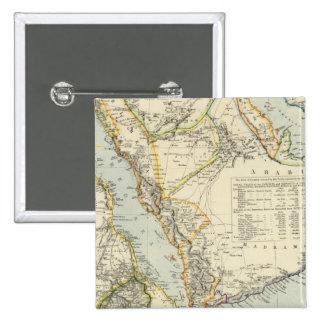 Arabia, Egipto, Nubia, Abyssinia 2 Pin Cuadrado