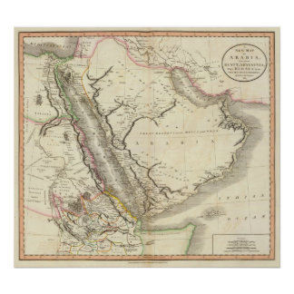 Arabia, Egypt, Abyssinia, Red Sea Poster