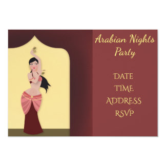 Arabia Nights Belly dancing party Card