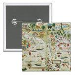 """Arabia y la India, del """"atlas de Miller"""", c.1519 Pin Cuadrado"""