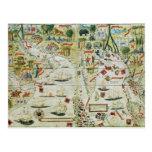 """Arabia y la India, del """"atlas de Miller"""", c.1519 Postal"""