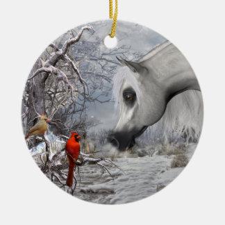 Arabian and Cardinals Ornament