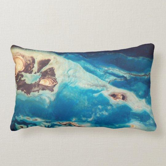 Arabian Aquamarine Reefs Lumbar Pillow