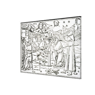 Arabian Astrologers, copy of an illustration from Canvas Print