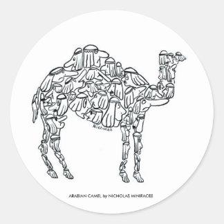 ARABIAN CAMEL CLASSIC ROUND STICKER