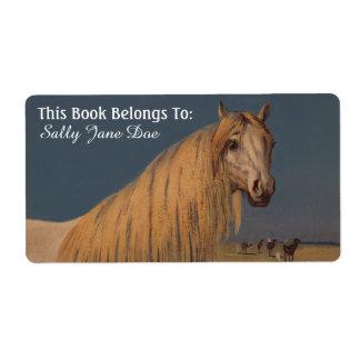 Arabian Desert Dream Horse Bookplates Labels