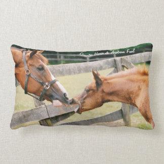 Arabian foal & Arabian horse portrait Pillow