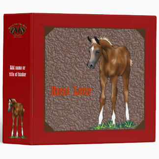 Arabian Foal Custom Avery Binder