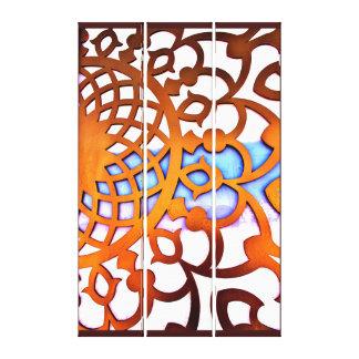 Arabian Gate Design Canvas Print