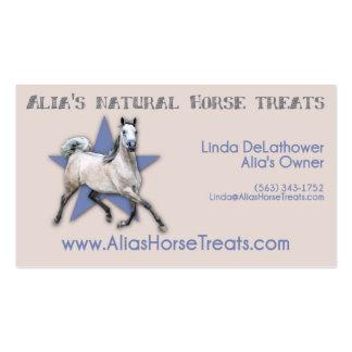 Arabian Horse - Alia's Natural Horse Treats Business Card