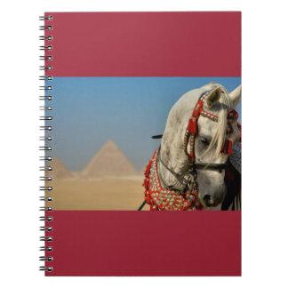 Arabian Horse and Pyramids Spiral Notebook