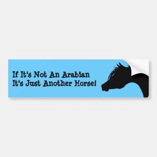 Arabian Horse Bumper Sticker Car Bumper Sticker