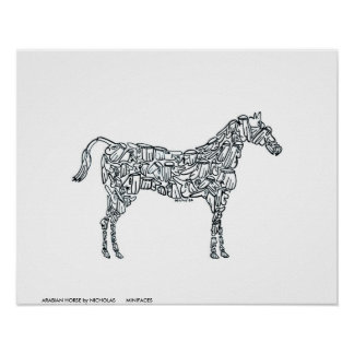 ARABIAN HORSE by NICHOLAS       MINIFACES Poster