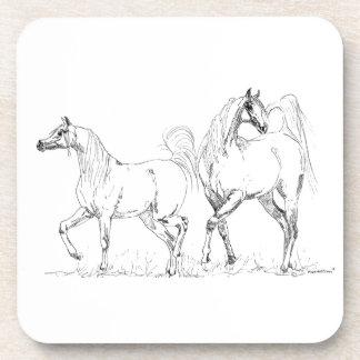 Arabian Horse Cork Coaster - Arabian Horses